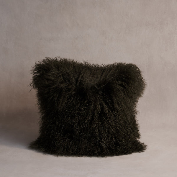 Mongolian Sheepskin Cushion - Mrs Ziegler