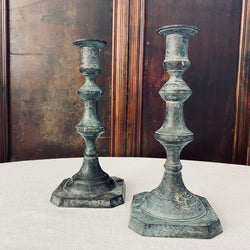 Pair of beautiful cast candlesticks