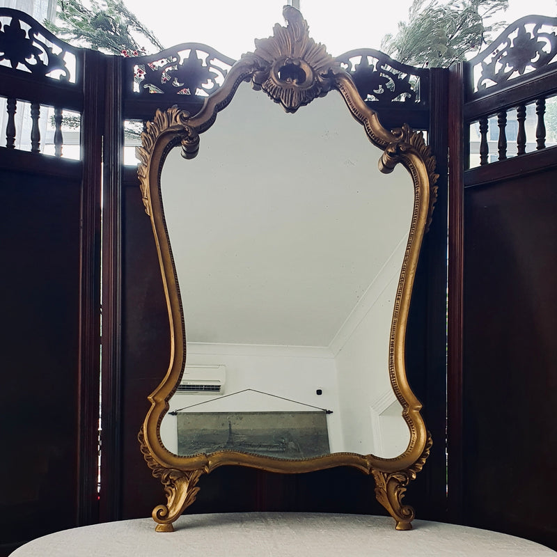 Vintage Roccoco Style Mantle Mirror with Legs