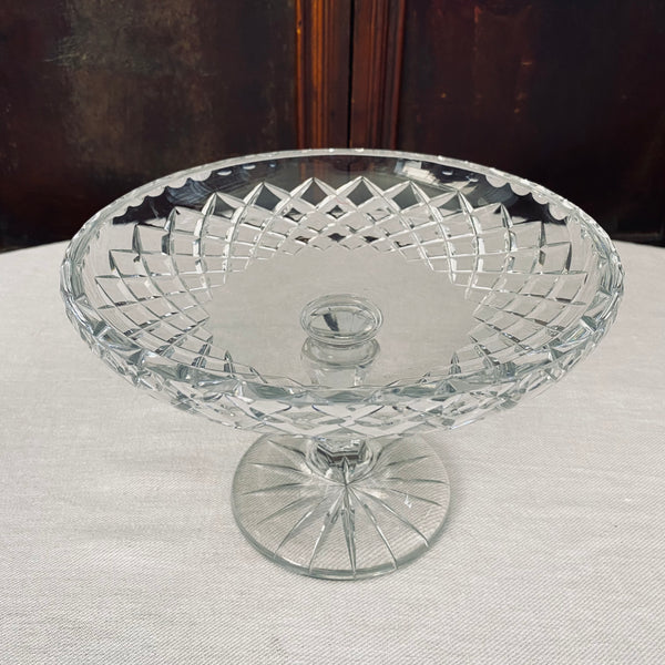Hand Cut Crystal Compote