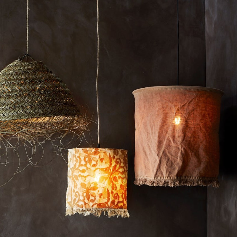 Linen Lampshade - Brown Sugar