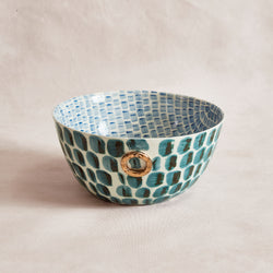 Bespoke Bowl - Blue Daub