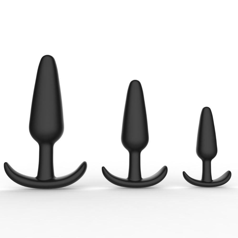 Level Up Anal Trainers 3 Piece Silicone Anchor Set