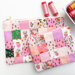 Zipper Pouch Tutorial for Aurifil