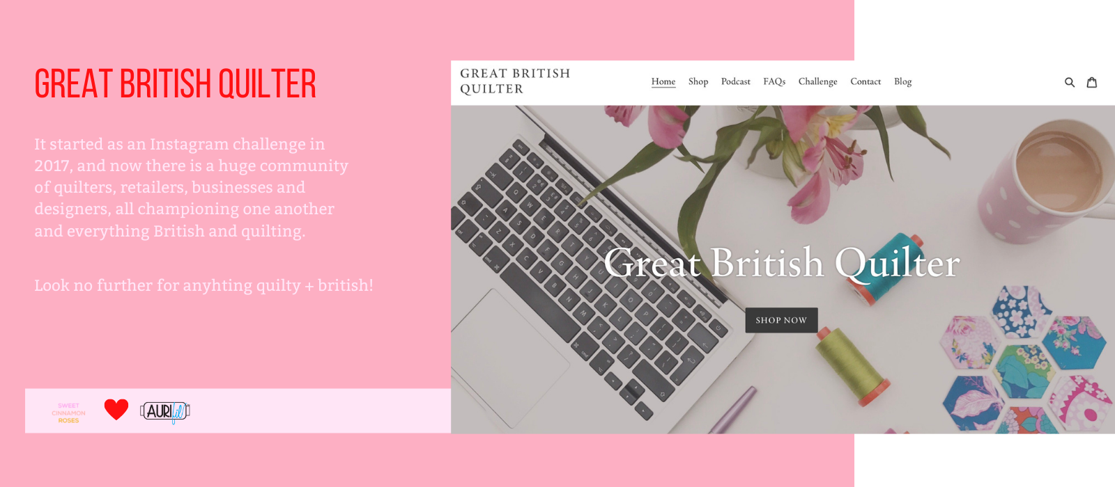 Great British Quilter, website and shop