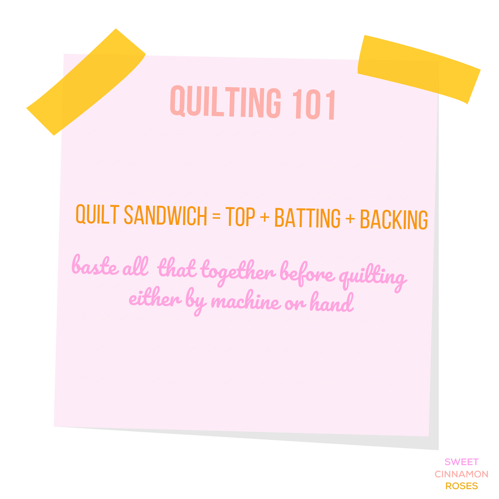 all about batting, basting and getting ready to quilt - by Sweet Cinnamon Roses