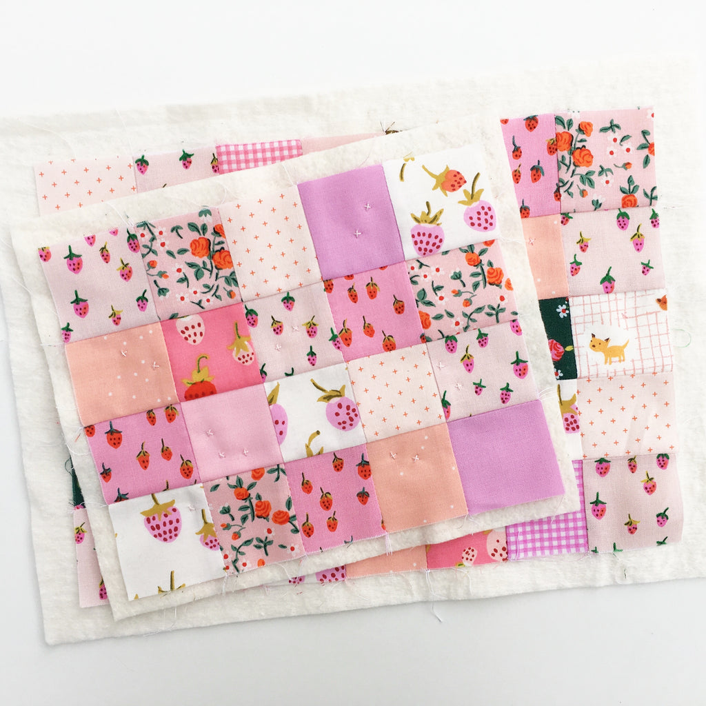 Hand quilted zipper pouch tutorial by Laura Cunningham of Sweet Cinnamon Roses
