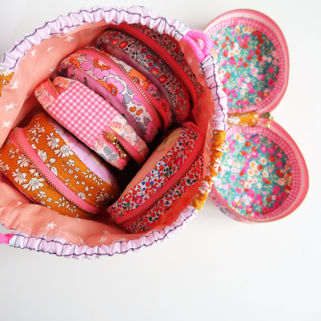 Zip Around Pouch made by Sweet Cinnamon Roses