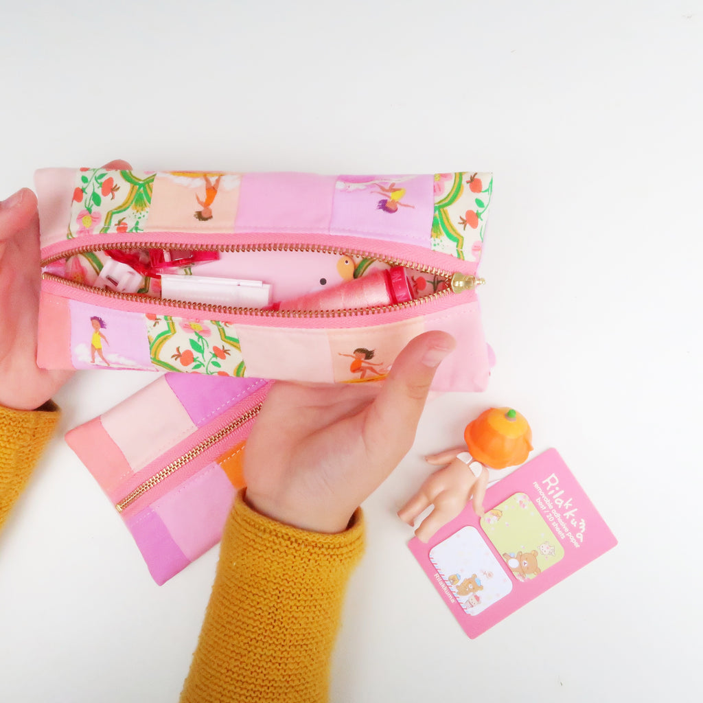 Patchwork Pencil Case FREE sewing pattern by Sweet Cinnamon Roses