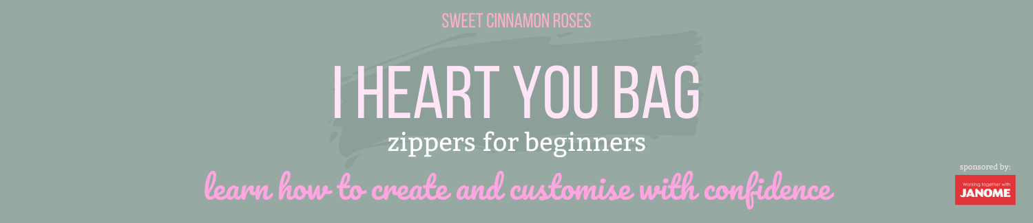 Sweet Cinnamon Roses - I heart you Bag, step-by-step sewing pattern