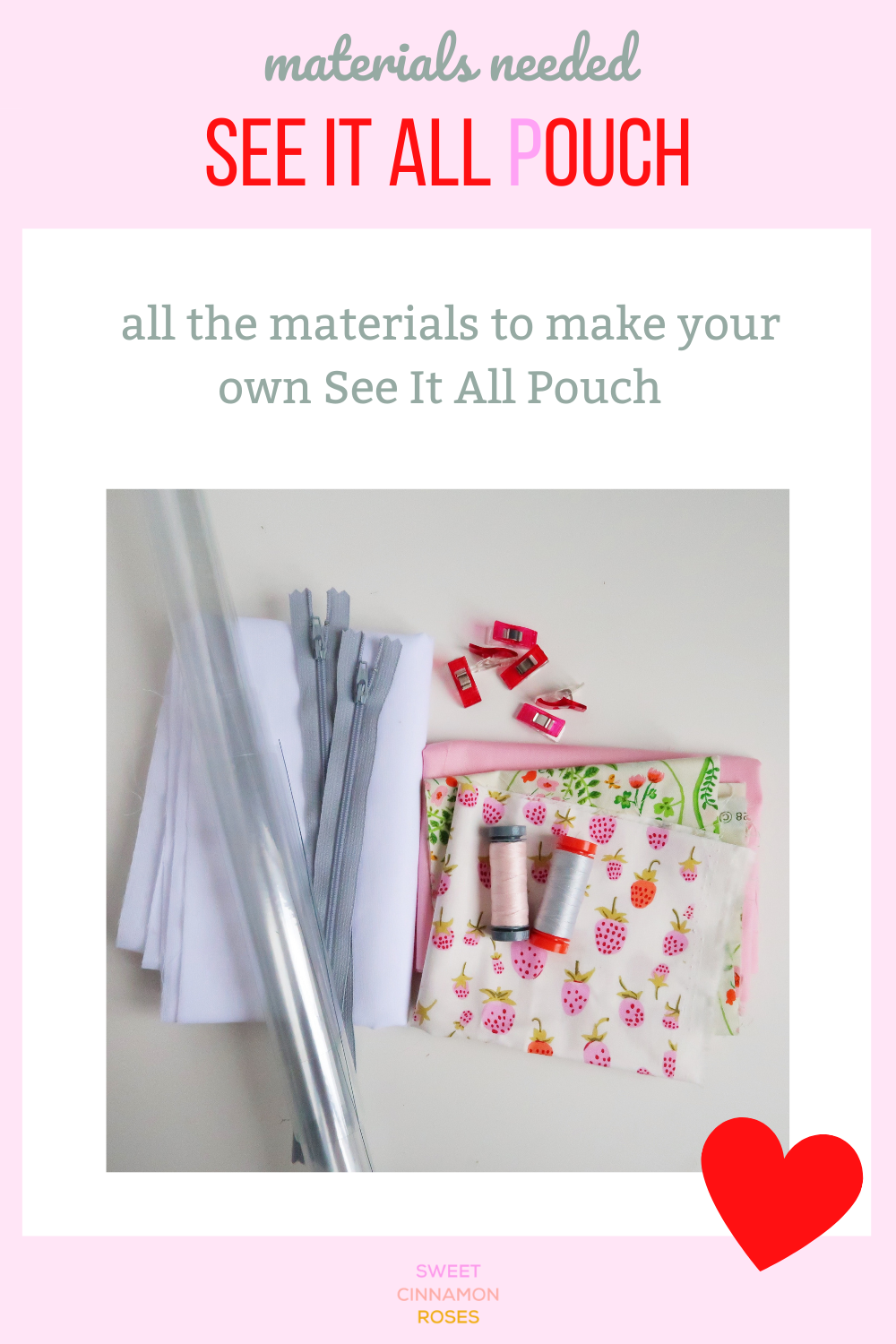 See It All Pouch sewing pattern by Sweet Cinnamon Roses