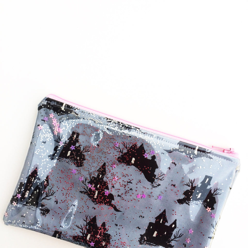 Halloween Glitta pouch - pattern by Sweet Cinnamon Roses