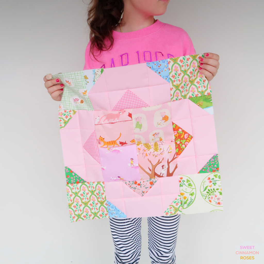 Suncatcher Stars Quilt, design by Lou Orth and made by Sweet Cinnamon Roses