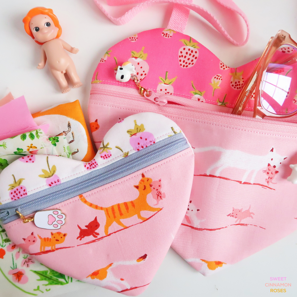 I Heart You Bag sewing pattern by Sweet Cinnamon Roses