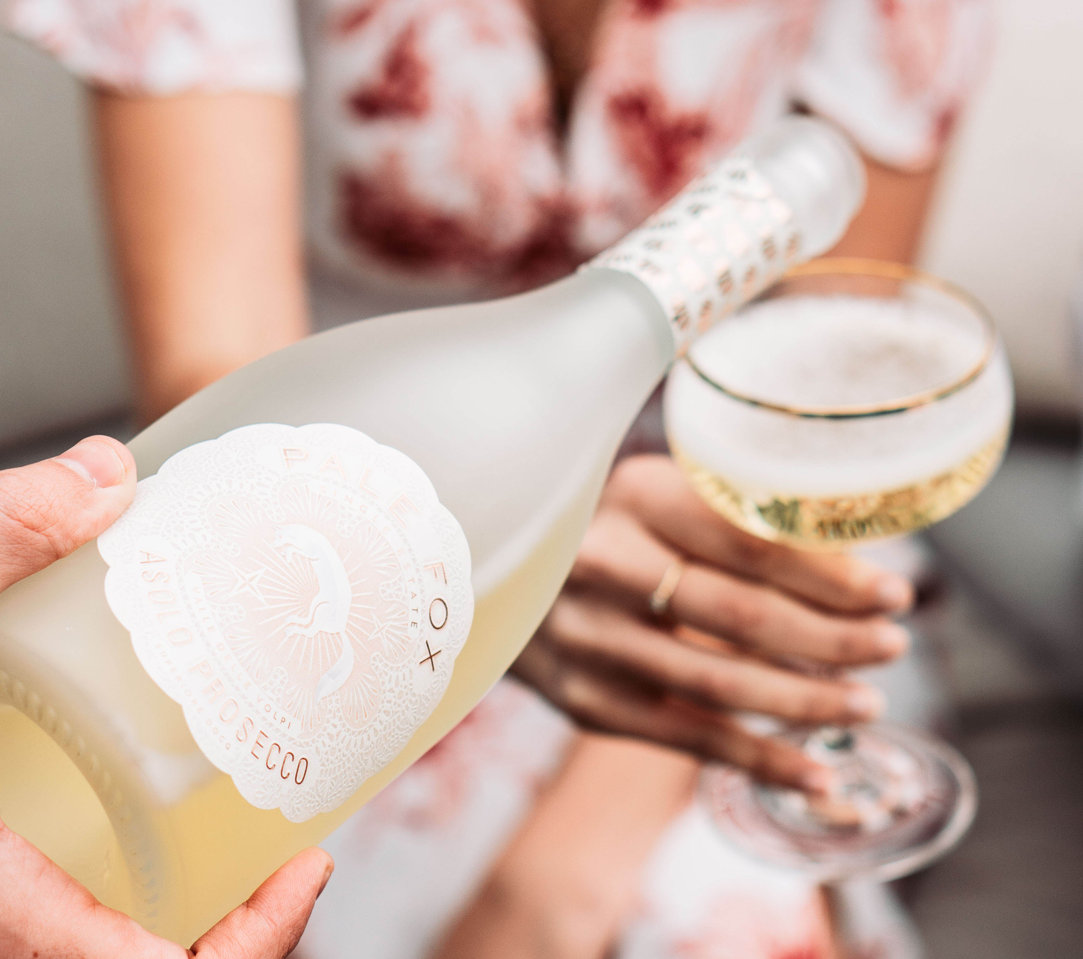 pale fox prosecco glass