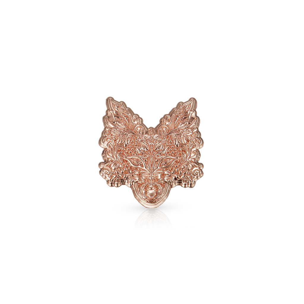 Pale Fox Single Estate Ultra Premium Prosecco Rose Gold Pin Badge