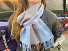 Load image into Gallery viewer, Blue Plaid Scarf