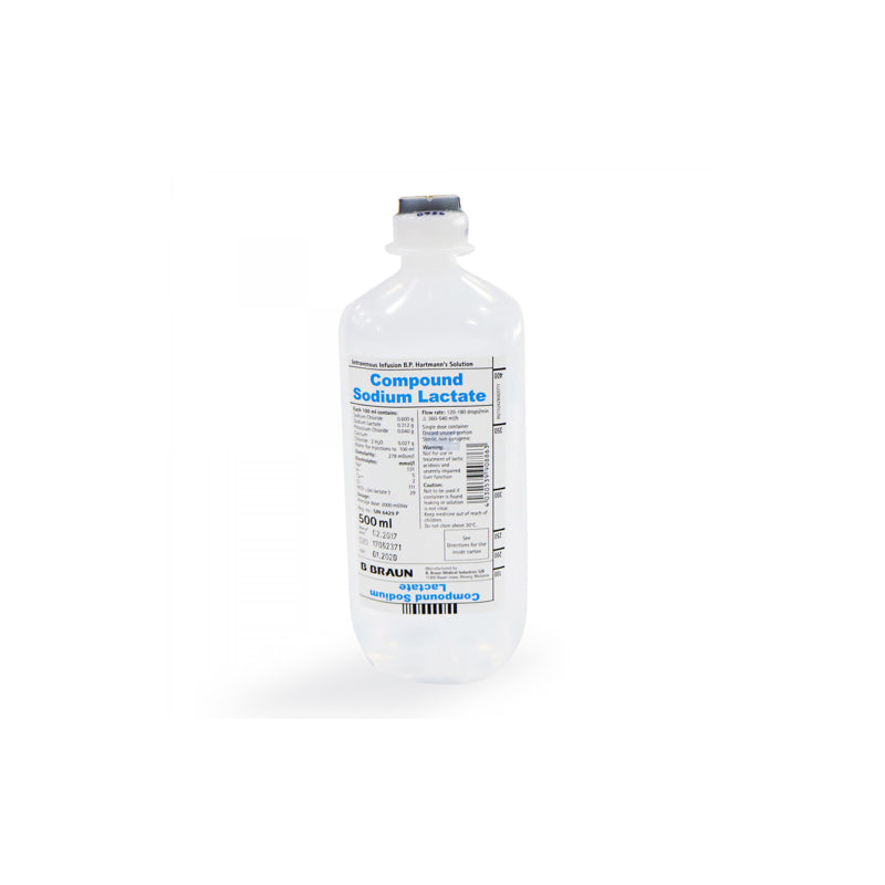 B Braun IV Infusion Compound Sodium Lactate (Hartmann's) 500ml