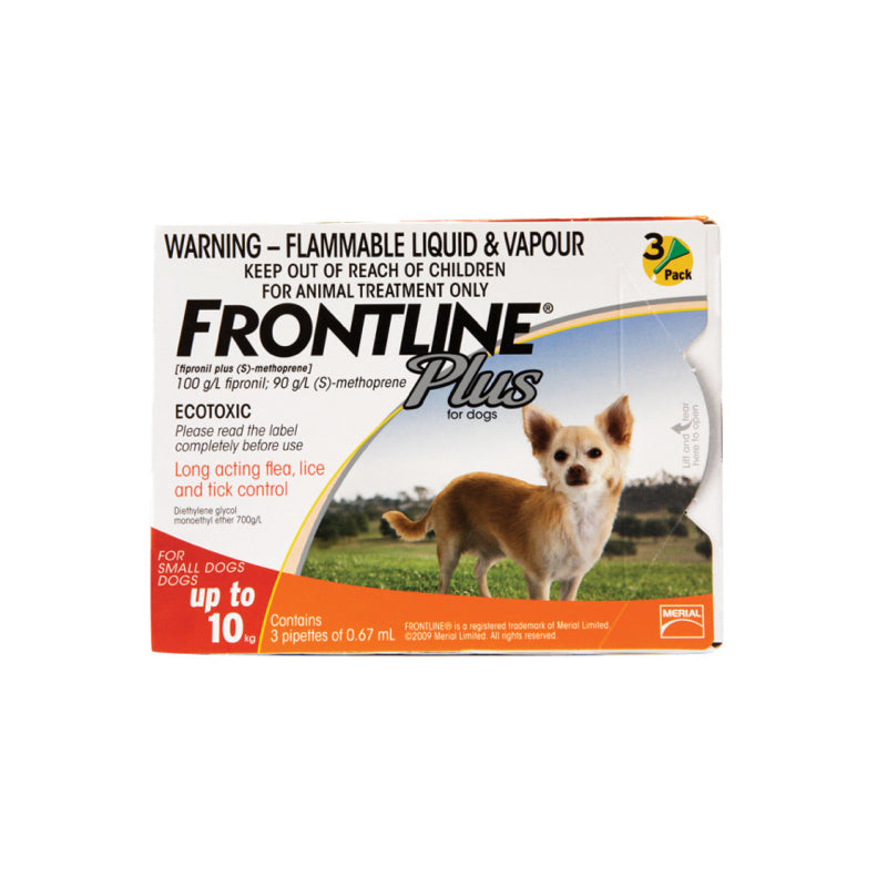 Frontline Plus Spot-on Small 0-10kg - 3 per box