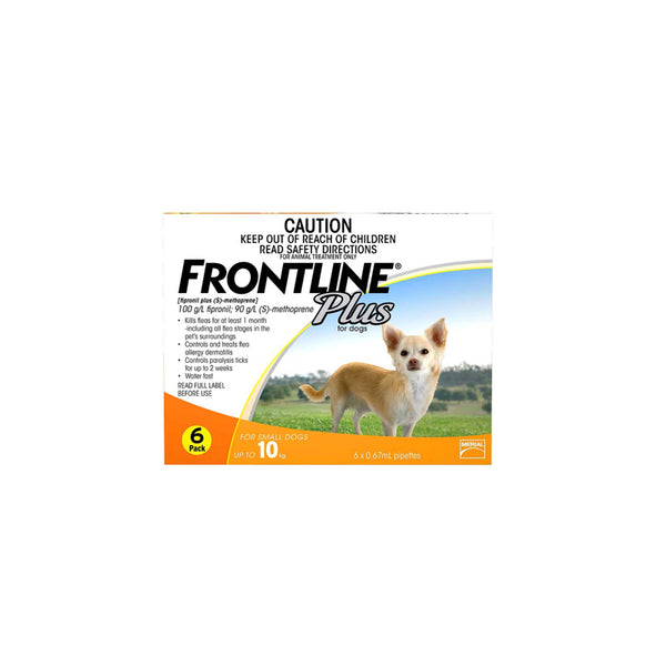Frontline Plus Spot-on Small 0-10kg - 6 per box