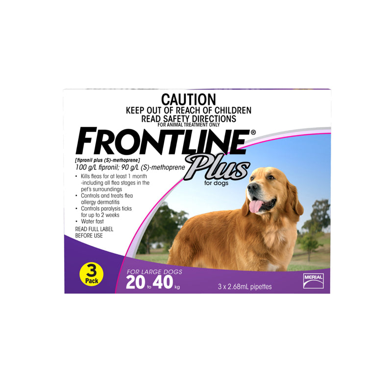 Frontline Plus Spot-on Large 20-40kg - 3 per box