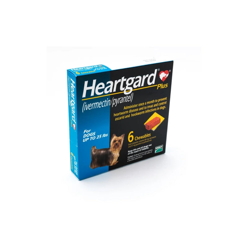 Heartgard Blue Plus 68mcg Chewable 6S 0-25lbs