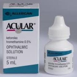 ACULAR (Ketorolac tromethamine 0.5%) opthalmic solution, 5ml bottle