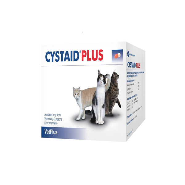 Cystaid Plus Feline Urinary Supplement - 30 capsules per box