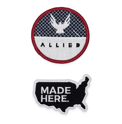 ALLIED Embroidered Iron-on Patch