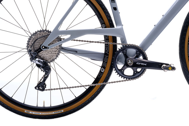 Allied Able Shimano GRX 810 Mechanical side photo focus on drivetrain