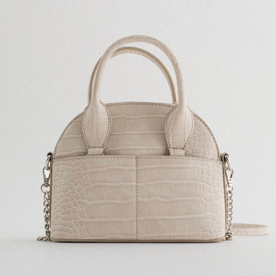 ANIMAL PRINT BAG : BLANC CRÈME