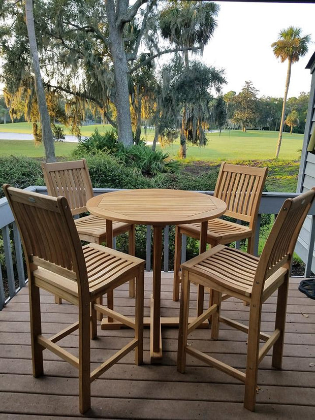 Teak Bar Table & Chairs for 4