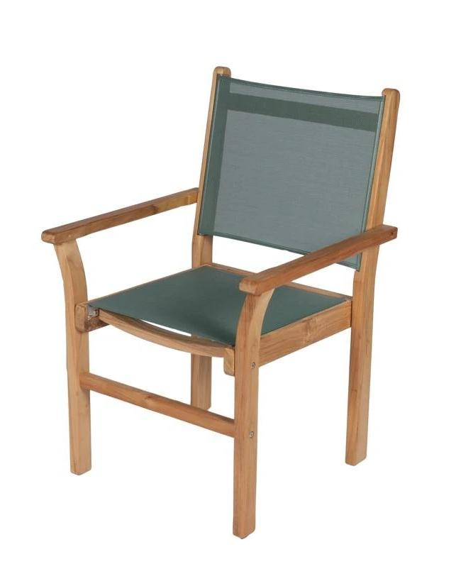 Royal Teak Collection Moss Green Captiva Dining Chair