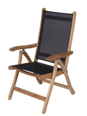 Royal Teak Collection Florida Chair - Black Sling