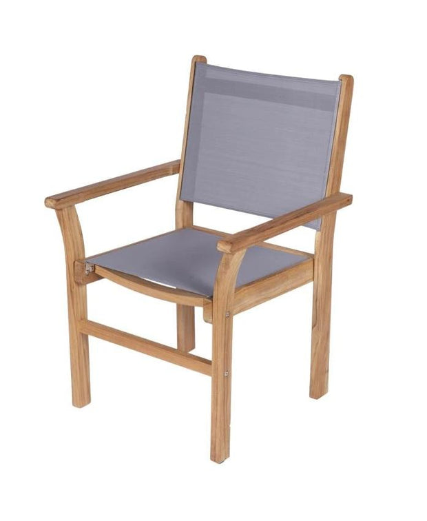 Royal Teak Collection Grey Captiva Stacking Chair