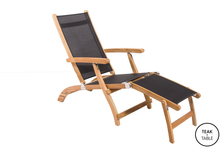 Incredible Steamer Sling Lounge Theyellowbook Wood Chair Design Ideas Theyellowbookinfo