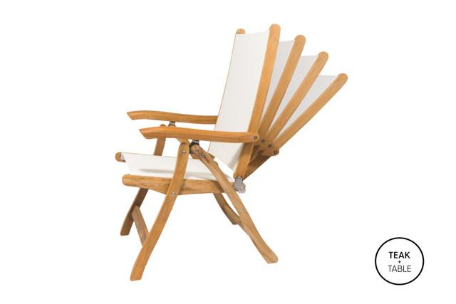 Royal Teak Collection Florida Chair White Sling