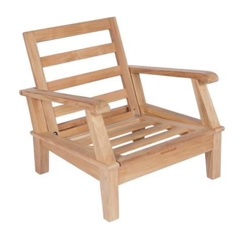 Royal Teak Collection Miami Club Chair Frame Only