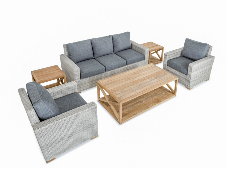 Oyster Bay 6pc Set Teak Table Outdoor