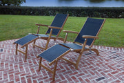 Steamer Sling Lounge Royal Teak Collection