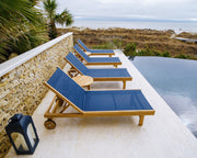 Royal Teak Collection Sundaze Chaise Lounge Navy