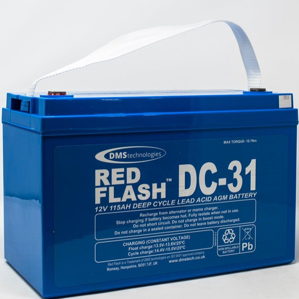 Red Flash Battery DC-31 Deep Cycle 12V 115Ah