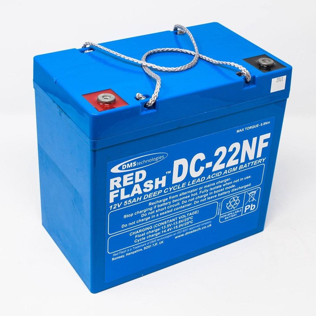 Red Flash Battery DC-22NF Deep Cycle 12V 55Ah - Dms Shop