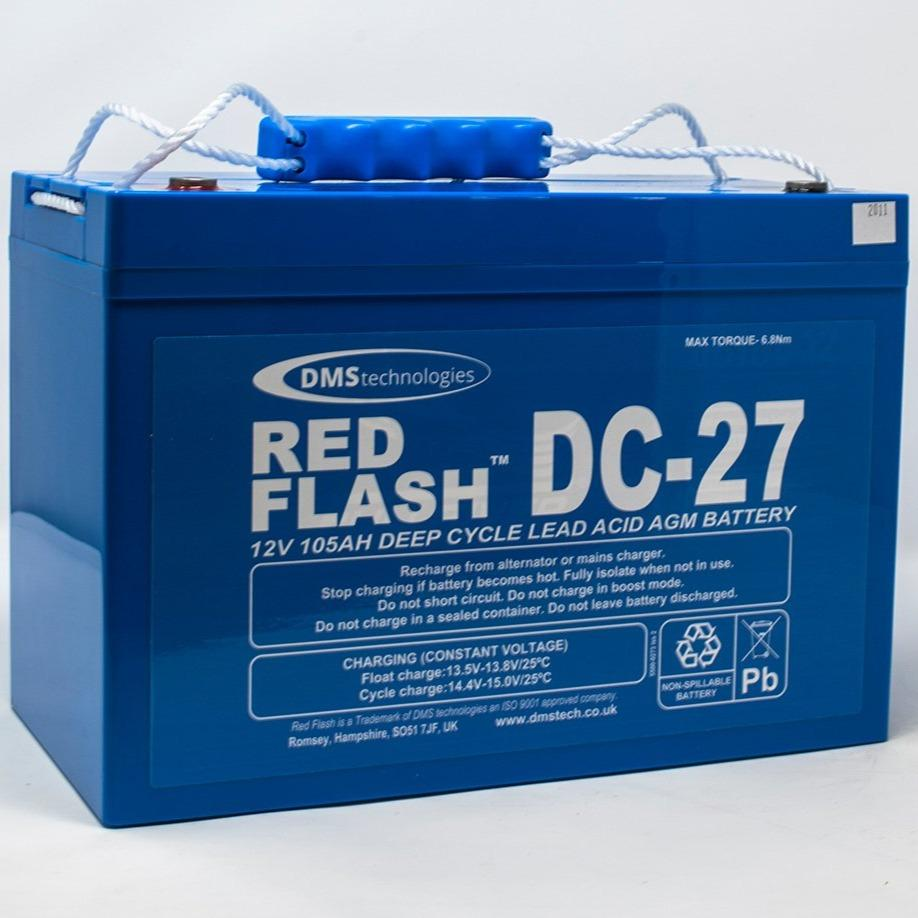 Red Flash Battery DC-27 Deep Cycle 12V 105Ah - Dms Shop