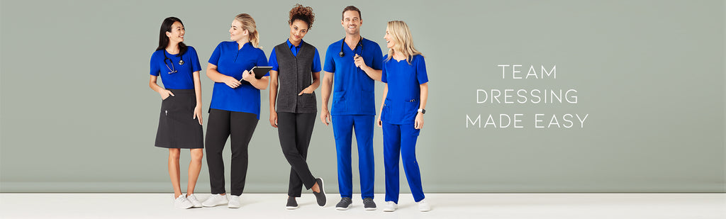 Medical scrubs online Australia, Embroidered medical scrubs and pants, Wholesale medical scrubs and pants for men and ladies , patient gown online Australia, Unisex medical scrubs and pants with embroidery, bulk medical clothing wholesalers in Australia.