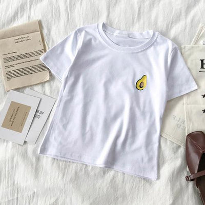Avocado Embroidered Simple T-shirts