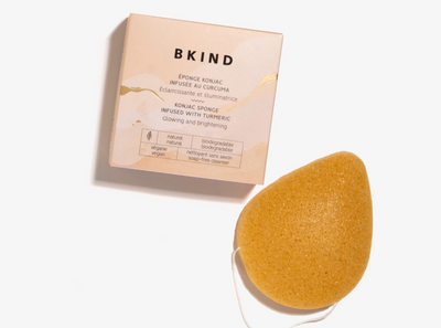 KONJAC FACIAL SPONGE - TURMERIC - she. boutique
