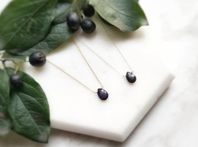 Sugilite Teardrop Necklace - Soul Junkie Co