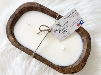 the scented market candle - she. boutique