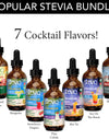 7 Pack - Popular Cocktail Flavors - 1 oz Premium Stevia Drops - Natural Sugar Substitute